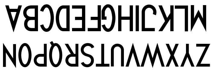Quirkus Upside Down Font UPPERCASE