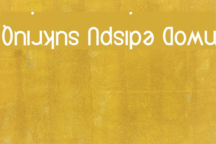 Quirkus Upside Down Font examples
