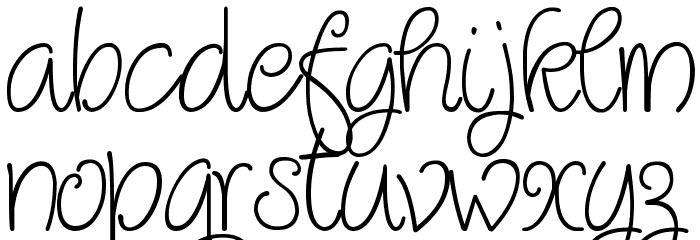 Quirlycues Шрифта строчной