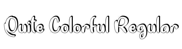 Quite Colorful Regular  Скачать бесплатные шрифты