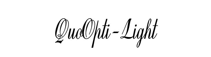 QuoOpti-Light  les polices de caractères gratuit télécharger