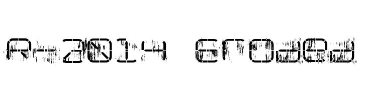 R-2014 Eroded  font caratteri gratis