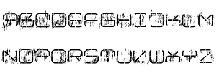 R-2014 Eroded Font UPPERCASE