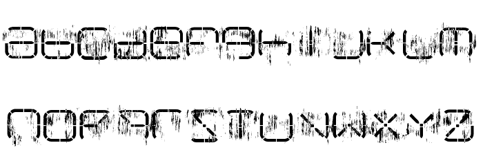 R-2014 Eroded Font LOWERCASE