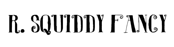 R. Squiddy Fancy  Free Fonts Download