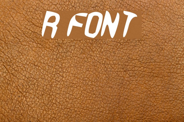 R Font examples