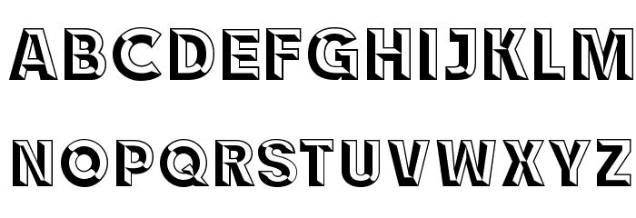 RACE1 Brannt Chiseled NCV Font Litere mici