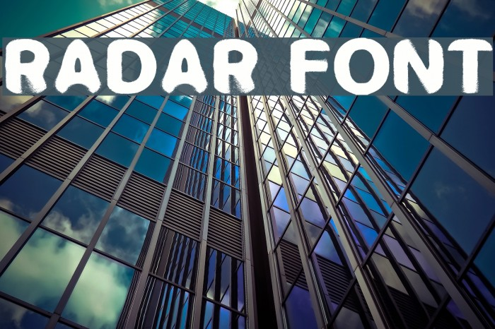 RADAR フォント examples