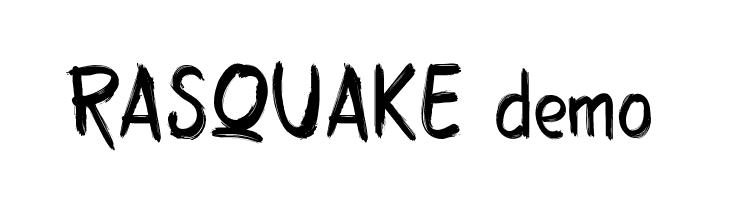 RASQUAKE demo  Free Fonts Download