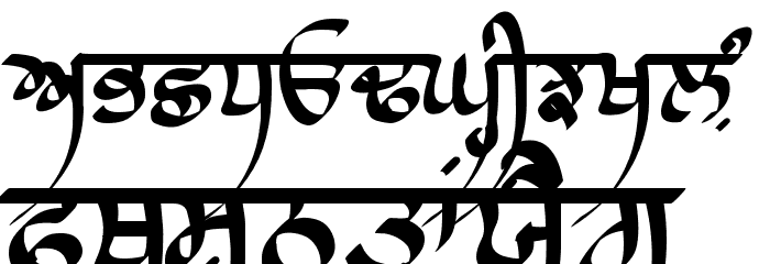 Raaj Script Thin फ़ॉन्ट अपरकेस