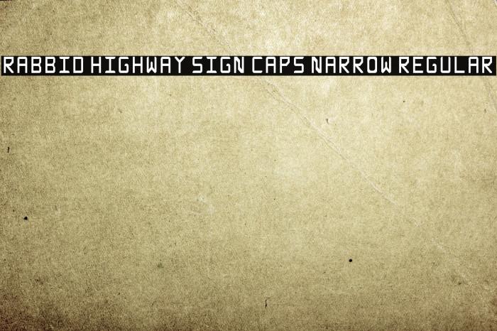 Rabbid Highway Sign Caps Narrow Regular Fonte examples