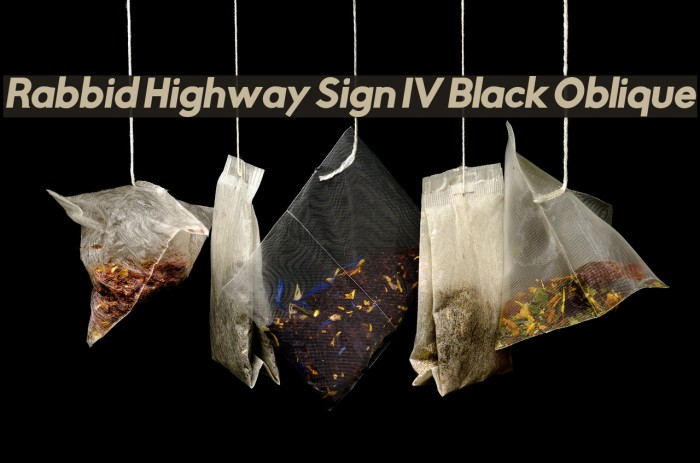 Rabbid Highway Sign IV Black Oblique फ़ॉन्ट examples