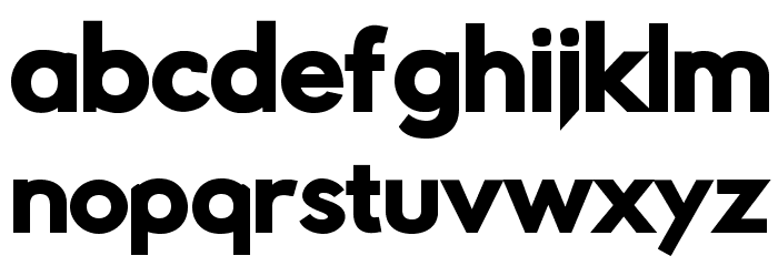 Rabbid Highway Sign IV Black Font LOWERCASE