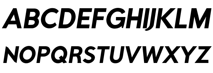 Rabbid Highway Sign IV Bold Oblique फ़ॉन्ट अपरकेस