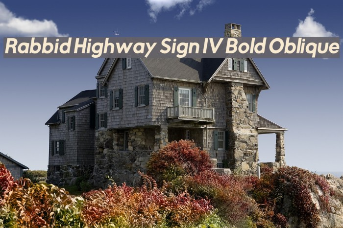 Rabbid Highway Sign IV Bold Oblique फ़ॉन्ट examples