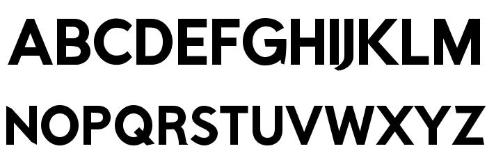 Rabbid Highway Sign IV Bold फ़ॉन्ट अपरकेस