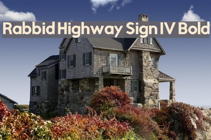 Rabbid Highway Sign IV Bold फ़ॉन्ट examples