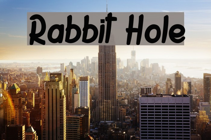 Rabbit Hole Font examples