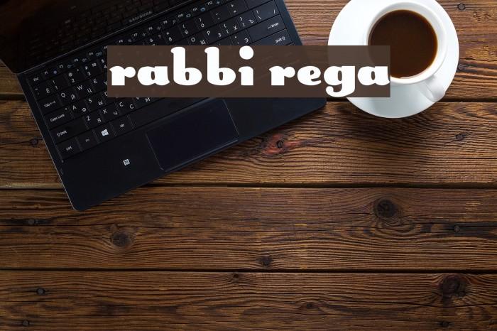 Rabbit Regular Font examples