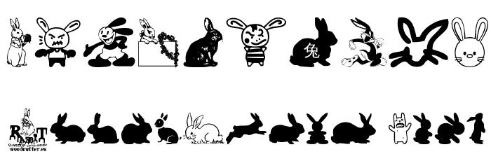 Rabbit Font Alte caractere