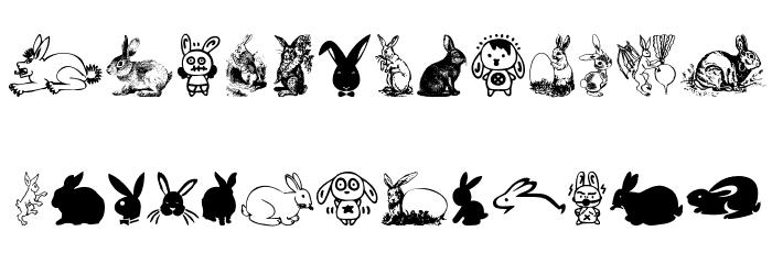 Rabbit Font Litere mari