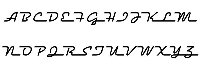 Raceway Medium Font UPPERCASE