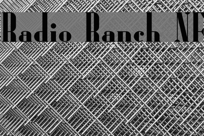 Radio Ranch NF Font examples