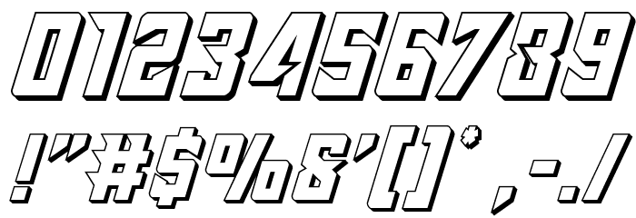 Raider Crusader 3D Font OTHER CHARS