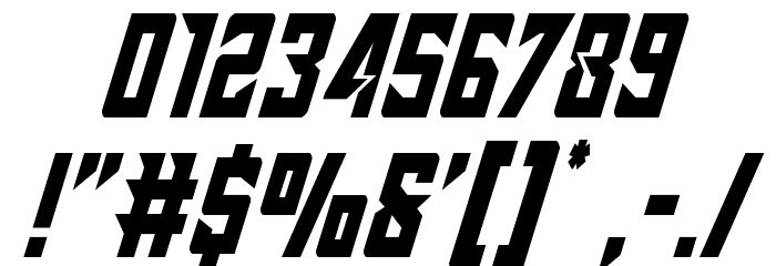 Raider Crusader Condensed Font OTHER CHARS