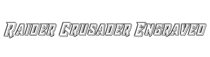 Raider Crusader Engraved Polices
