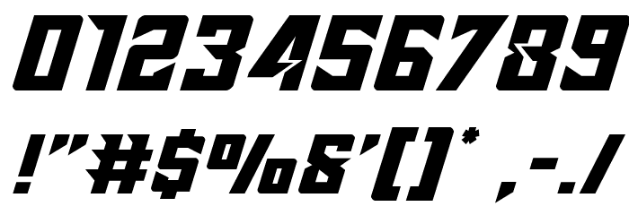 Raider Crusader Expanded Font Alte caractere