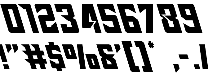 Raider Crusader Leftalic Font OTHER CHARS