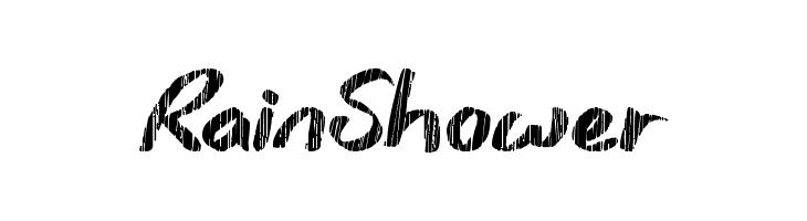 Rain Shower  les polices de caractères gratuit télécharger
