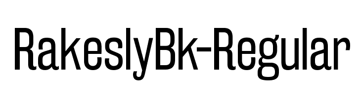 RakeslyBk-Regular  नि: शुल्क फ़ॉन्ट्स डाउनलोड