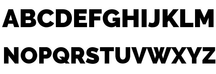 Raleway Black Font UPPERCASE