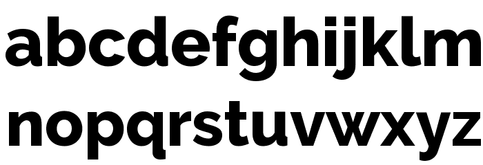 Raleway ExtraBold Font LOWERCASE