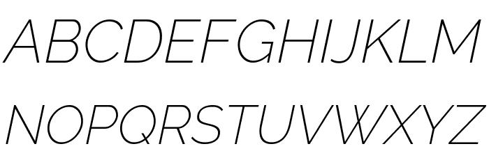 Raleway ExtraLight Italic Font UPPERCASE