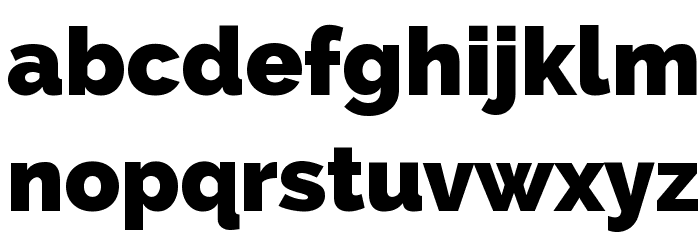 Raleway Heavy Font LOWERCASE