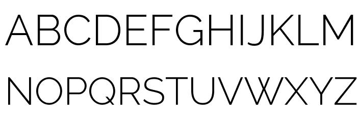 Raleway Light Font UPPERCASE