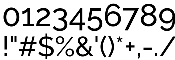 Raleway Medium Font OTHER CHARS