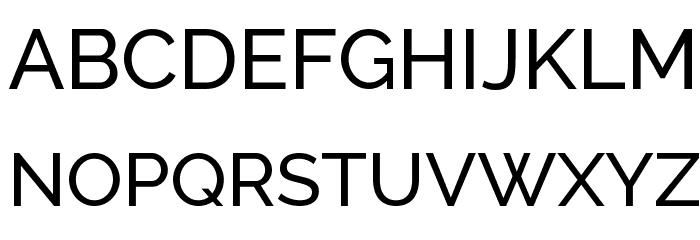 Raleway Medium Font UPPERCASE