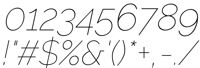 Raleway Thin Italic Font - free fonts download