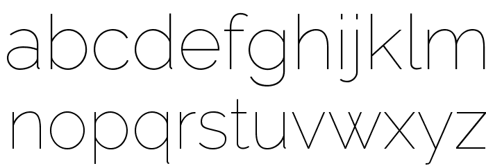 Raleway Thin Font LOWERCASE