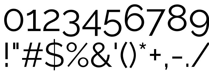 Raleway Font OTHER CHARS