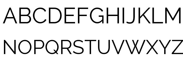 Raleway Font UPPERCASE