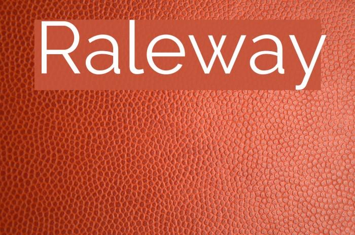 Raleway Font examples