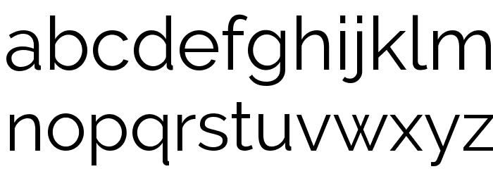 Raleway Font LOWERCASE