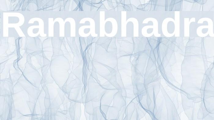 Ramabhadra Font examples