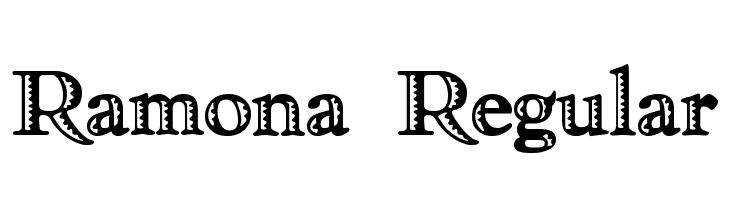 Ramona Regular  नि: शुल्क फ़ॉन्ट्स डाउनलोड