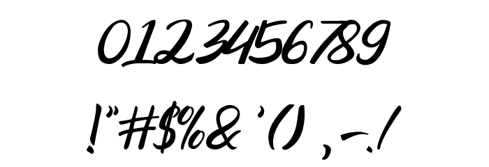 Ranania  Regular Font OTHER CHARS